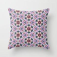 Kaleidoscope Flowers  Throw Pillow