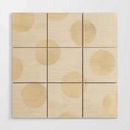 Gold Polka Dots Wood Wall Art