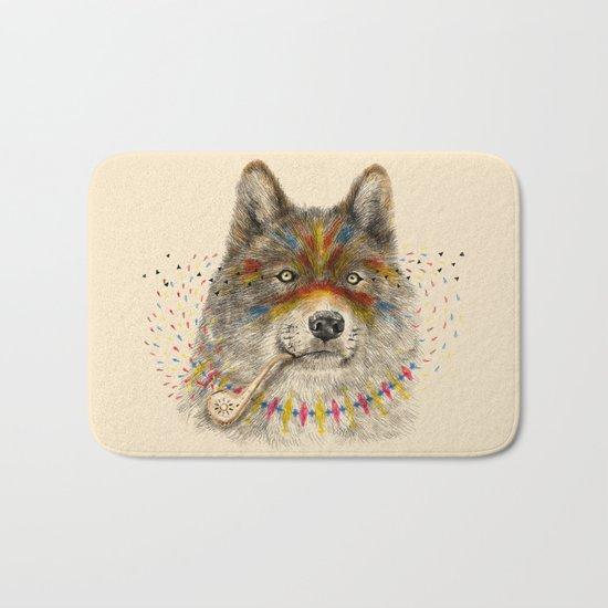 Cherokee Wolf Bath Mat