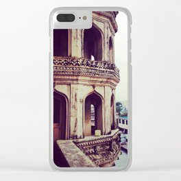 Vintage asian architecture - Streets of India Clear iPhone Case