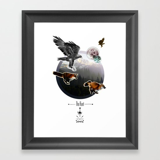 The Hunt. Framed Art Print