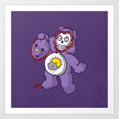 bi-polar care bear  Art Print