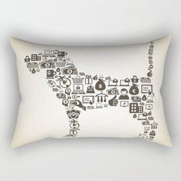 Dog business Rectangular Pillow