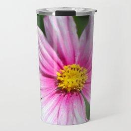 Pink Cosmos Travel Mug