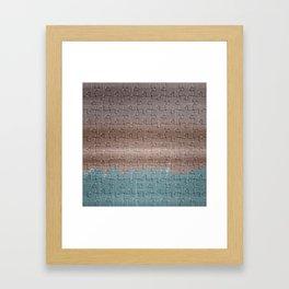 Jig-saw Puzzle Neutral Palette Design Framed Art Print