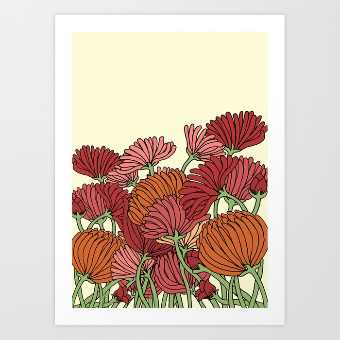 The Beautiful Flower in the Garden Art Print