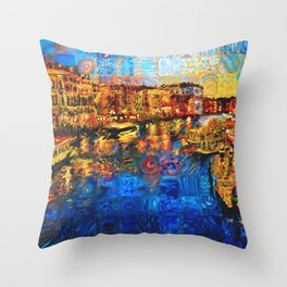 City of Love Throw Pillow