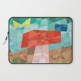 Mosaic mushroom with butterfly and snail Laptop Sleeve