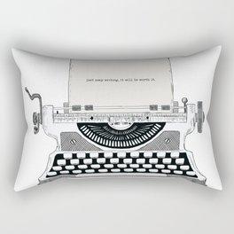 Just keep writing Rectangular Pillow