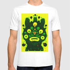 green doods Mens Fitted Tee MEDIUM White