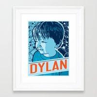 dylan Framed Art Prints featuring Dylan by Adam Shortlidge