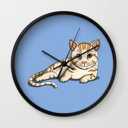 Lazy kitty Wall Clock
