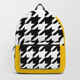 Houndstooth with mustard stripe Backpack
