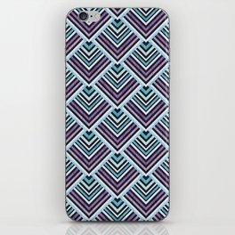Purple and Blue Geo iPhone Skin