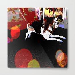 Flying Carousel Abstract Metal Print