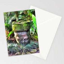 Meditation in a Tropical Garden Stationery Cards