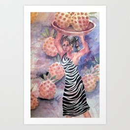 pineapple picker Art Print