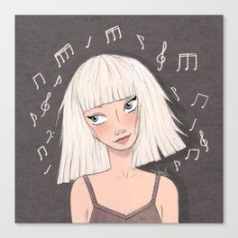 Maddie Ziegler (Chandelier - Elastic Heart) Canvas Print