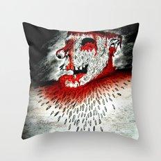 Zombie la mouche Fête Throw Pillow