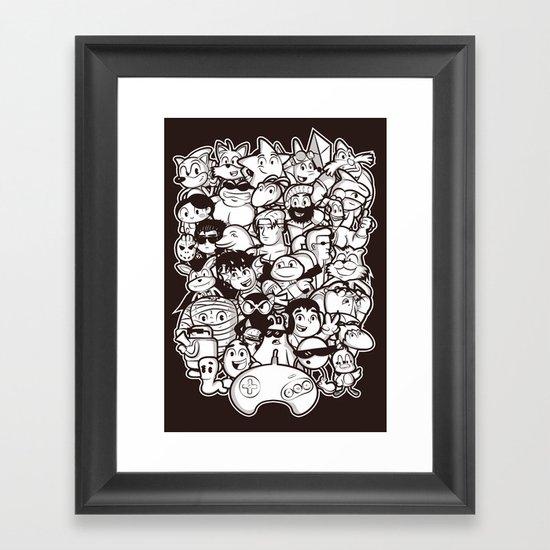 Mega 16 Bit Framed Art Print