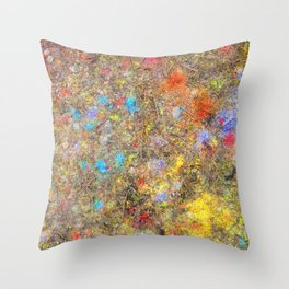 Aftermath of a Color Explosion Throw Pillow