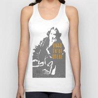 oscar wilde Tank Tops featuring Lady Oscar Wilde by pruine