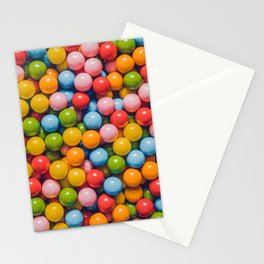 Vintage Mini Gumball Photograph Candy Pattern  Stationery Cards
