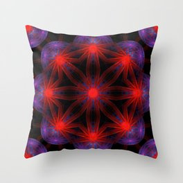 Vibrant Connections Mandala Throw Pillow