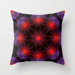 Vibrant Connections Mandala Throw Pillow