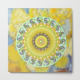 a sea of green and yellow Metal Print