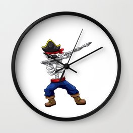 This Pirat is 4 Years Dabbing Theme Wall Clock