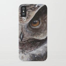 """The Owl - """"Watch-me!"""" - Animal - by LiliFlore iPhone Case"""