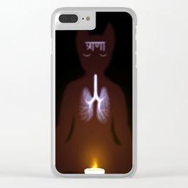 Prānā {Breath} Clear iPhone Case