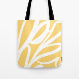 Happy Abstract - Lemon Yellow and White Abstract Tote Bag
