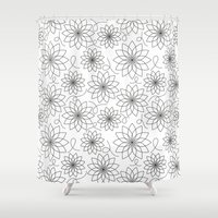 arya stark Shower Curtains featuring Stark Flowers by SonyaDeHart