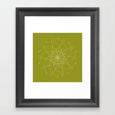 Ornament – whirling Framed Art Print