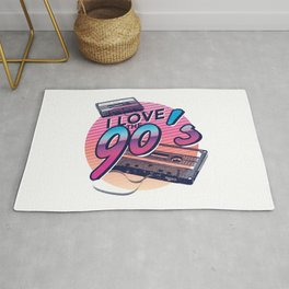Back to the 90s cassette tape Rug