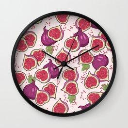 fig pattern Wall Clock