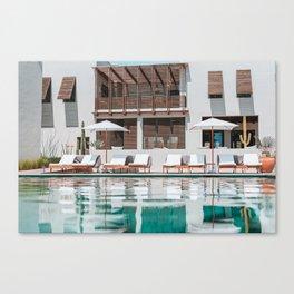 Poolside in Todos Santos Canvas Print