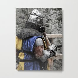 Medieval Knight in Armour - Warrior of the Middle Ages Metal Print