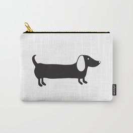 Simple black and white dachshund Carry-All Pouch