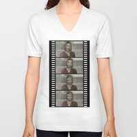 silent hill V-neck T-shirts featuring Maria Silent Hill by Alberto P