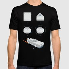 Origami DeLorean Black Mens Fitted Tee X-LARGE