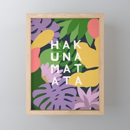 Hakuna Matata Framed Mini Art Print