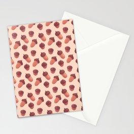 Acorns Pattern Stationery Cards