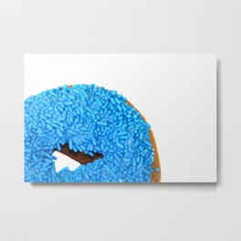 Blue Doughnut Metal Print
