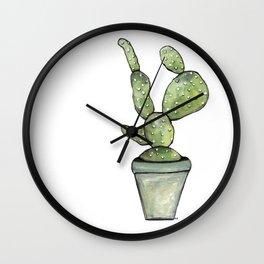 One green Cactus Wall Clock