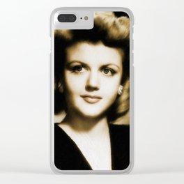 Angela Lansbury Clear iPhone Case