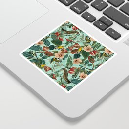 FLORAL AND BIRDS XIII Sticker