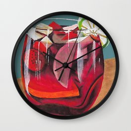 Fruit cocktail Wall Clock